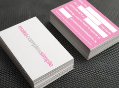 Make Complex Simple business cards