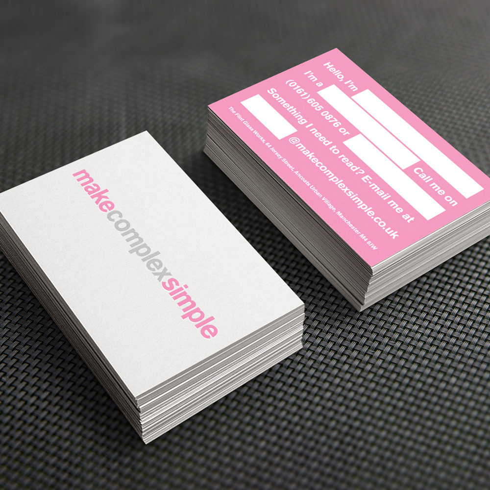 Make complex simple straightline creative make complex simple business cards reheart Images