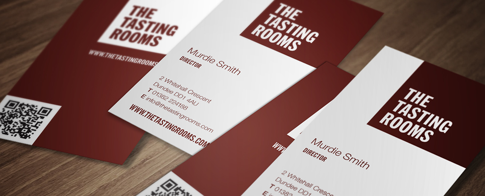 The Tasting Rooms business cards