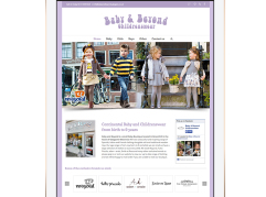 Baby & Beyond Childrenswear website